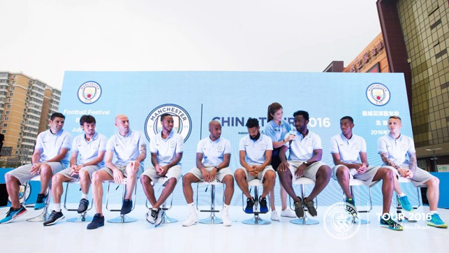 CITY IN CHINA: The players speak on stage