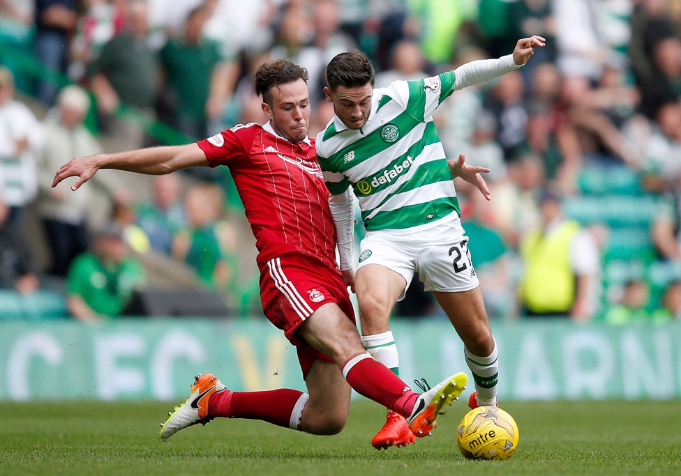 SUPER HOOP: Striker Patrick Roberts is in his second year at Celtic on loan