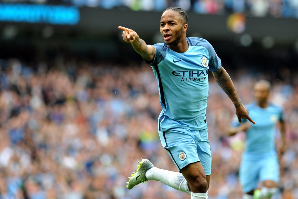 STERLING SERVICE: Raheem has made an excellent start for City in 2016/17