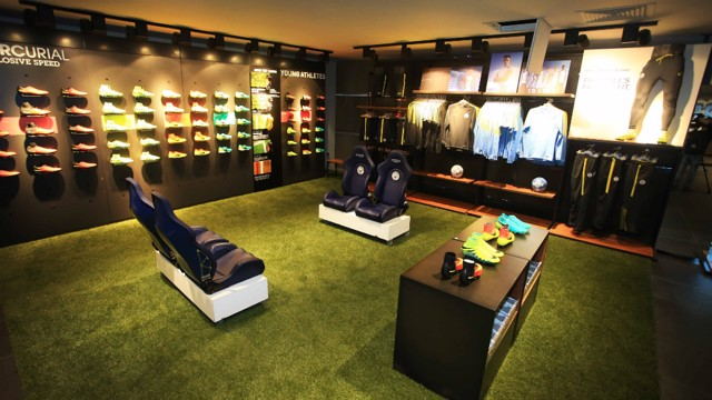 BOOT ROOM: Heaven for any football boot fanatic.