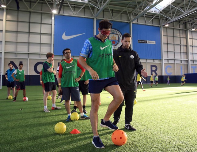 ONE CITY: City in the Community's Paul Kelly delivered a session from our disability football programme.