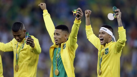 OLYMPIC HEROES: Jesus helped Brazil to the Gold medal on their home soil.