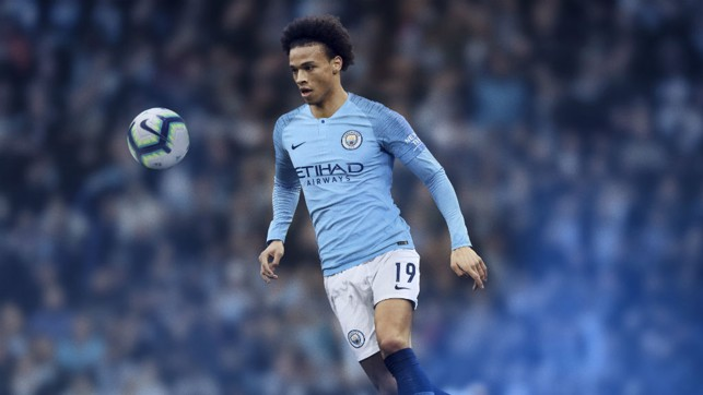 LOOKING SHARP: Leroy Sane models the 18/19 home kit