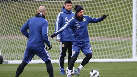 WATCHING BRIEF: Sergio Aguero and Lionel Messi