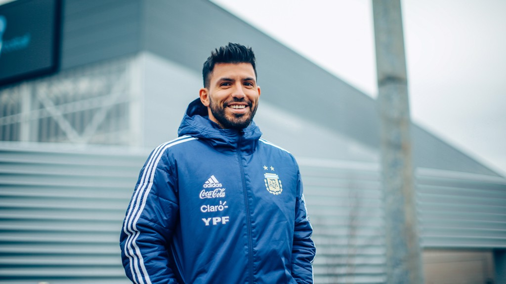 RETURN: Aguero could be set to play a part in Argentina's game against Spain next week.