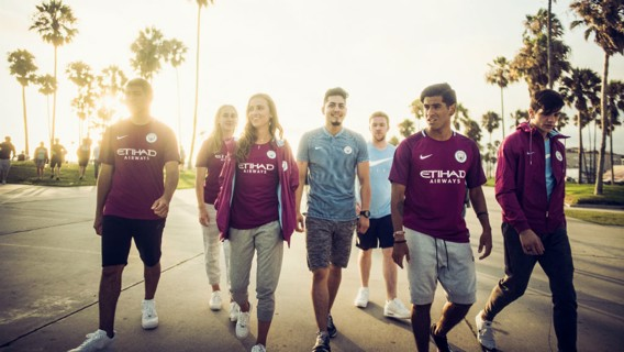 STYLING: Manchester City's Hollywood Supporters Club.