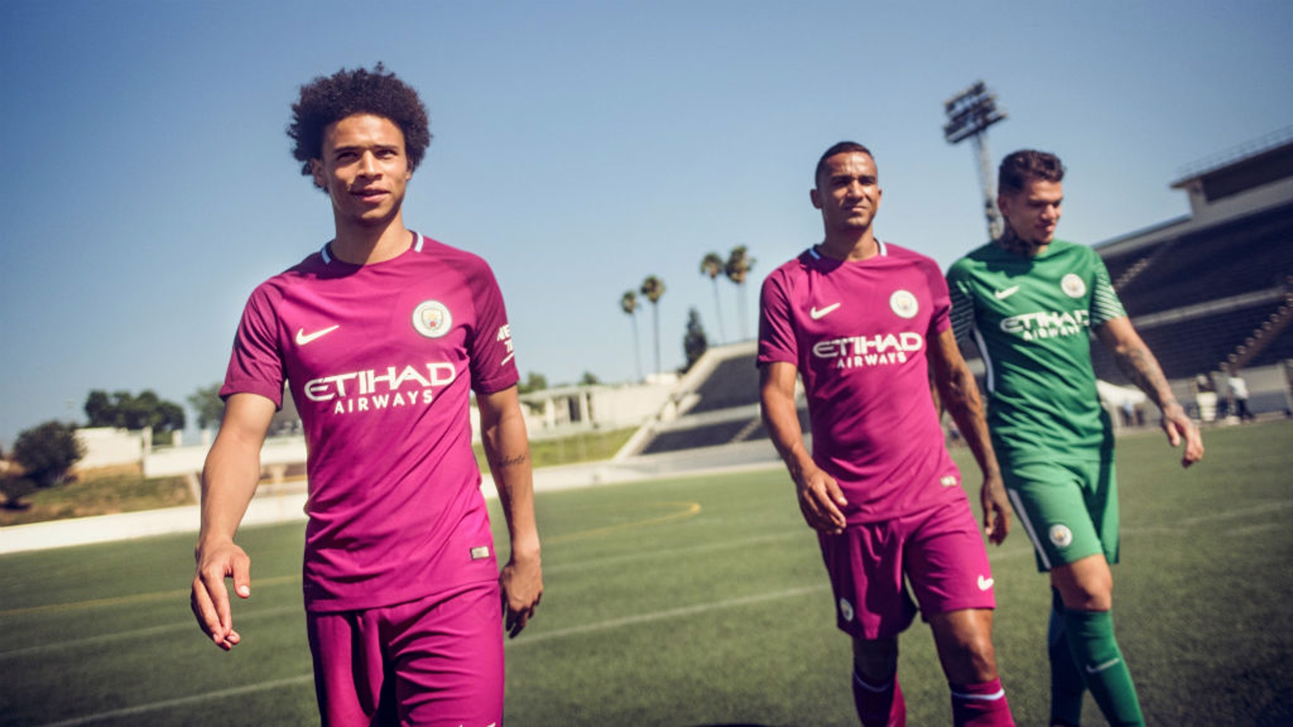 CALIFORNIA LOVE: The LA sunshine was the setting for this year's away kit reveal.