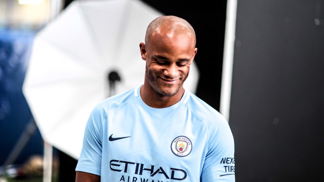 BLUE BOY: The skipper seems pleased with this year's kit.