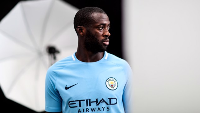BIG MAN: New kit and a new contract for Yaya.