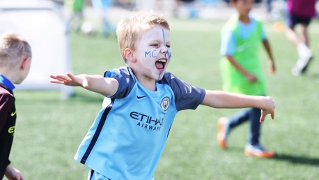 GOOOOAAAALLLL: A junior Blue celebrates.