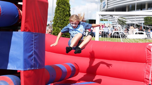 JUMP: Loads of fun on our wipe out machine!