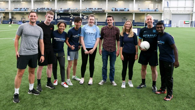 TEAM: Manchester City fans and staff reaped the benefits of our young leaders expertise.
