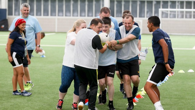 FUN AND GAMES: The football festival was a great success.