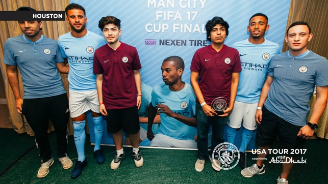 FINALISTS: The top four players from the Man City FIFA 17 Cup.
