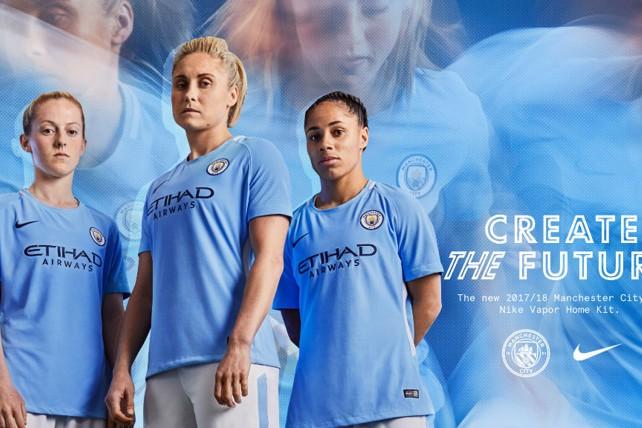 CREATE THE FUTURE  The 2017 18 Manchester City home kit. 1. SKY BLUES   Steph Houghton 551de2cb5