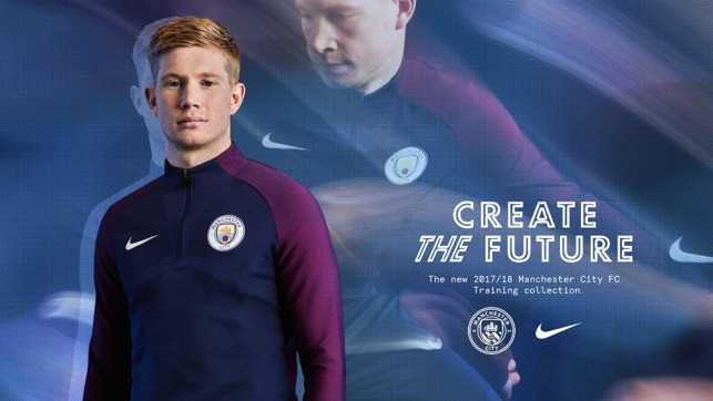 CFA ATTIRE: Kevin De Bruyne in the new training kit.