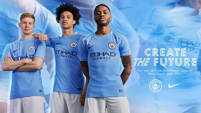 CREATE THE FUTURE: The 2017/18 Manchester City home kit.