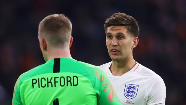 DISCUSSION: Jordan Pickford and John Stones in conversation versus Holland