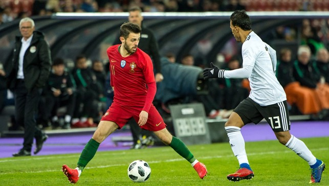 SILVA BULLET: Bernardo impressed in the 2-1 win over Egypt in Switzerland