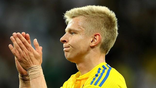 WELL PLAYED: Oleksandr Zinchenko 's Ukraine drew 1-1 with Saudi Arabia