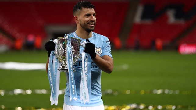 MAIN MAN: Our record goal-scorer, Sergio Aguero