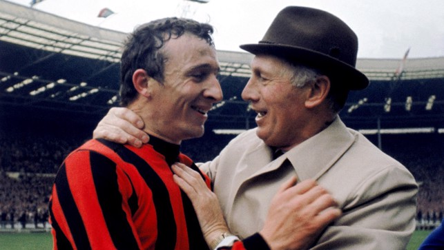 Wonderful shot of Joe with Mike Summerbee who set up Neil Young's winning goal in the '69 cup final