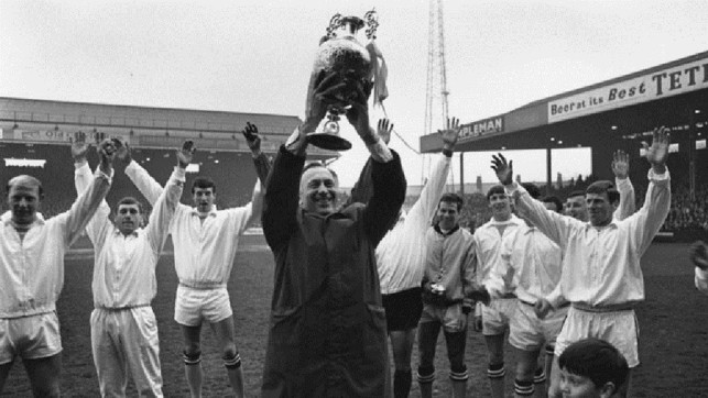 Champions! Joe rightly takes the cheers of the City fans after the Blues lifted the Division One crown in 1967/68
