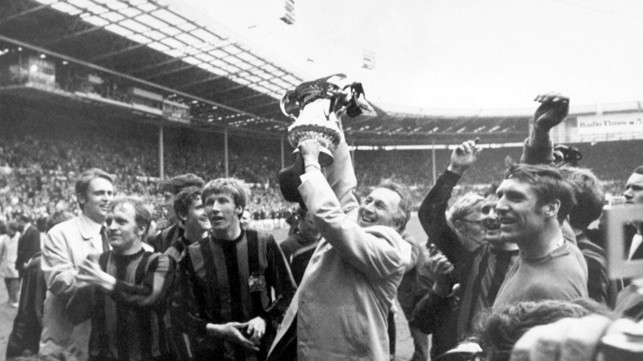 More celebrations at Wembley after the 1969 FA Cup triumph