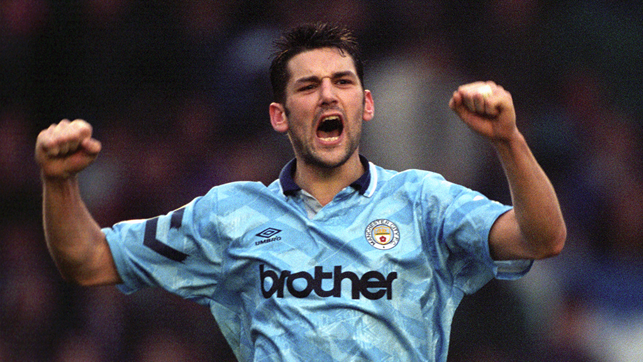 FIRST EVER: David White scored City's first ever Premier League goal