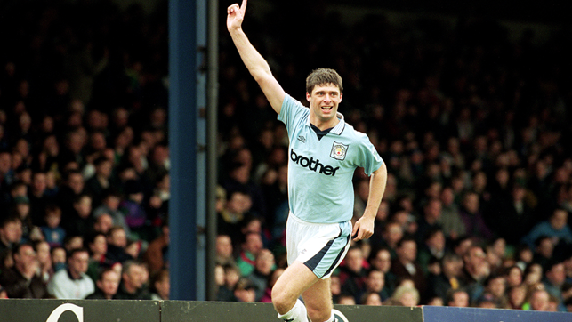 THIRTY: Niall Quinn scored thirty total goals for City in the Premier League
