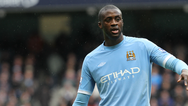 EIGHT: Yaya Toure scored eight goals for City in his first season at the club