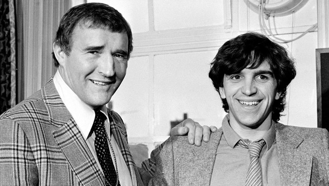 1980: Malcolm Allison greets new £1m signing Kevin Reeves