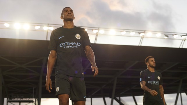 SPOTLIGHT: Danilo and Kyle Walker in the new kit.