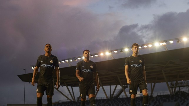 MODEL MEN: Danilo, Stones and Walker under the lights.