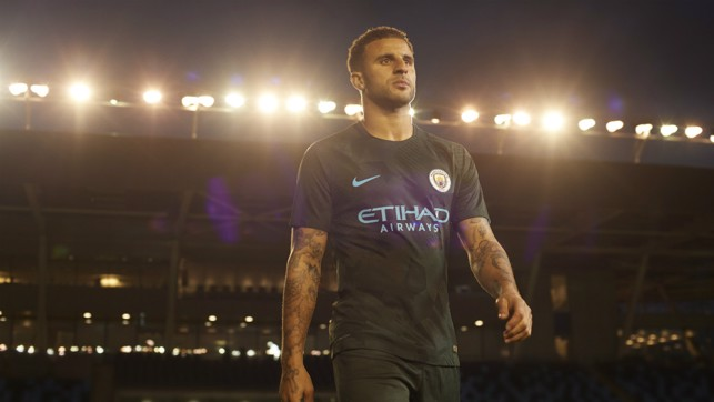 WALKING TALL: Kyle Walker at the Academy Stadium.
