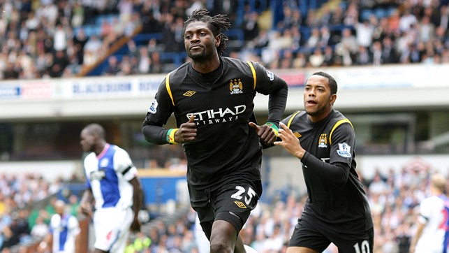EMMANUEL ADEBAYOR V BLACKBURN: Three minutes was all it took