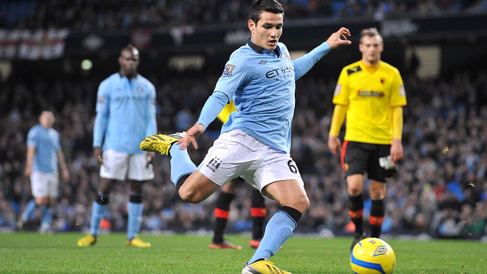 MARCOS LOPES V WATFORD: The Portuguese youngster came off the bench to score City's third goal