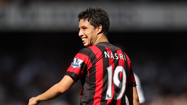 SAMIR NASRI V TOTTENHAM: The orchestrator of many of City's best moments