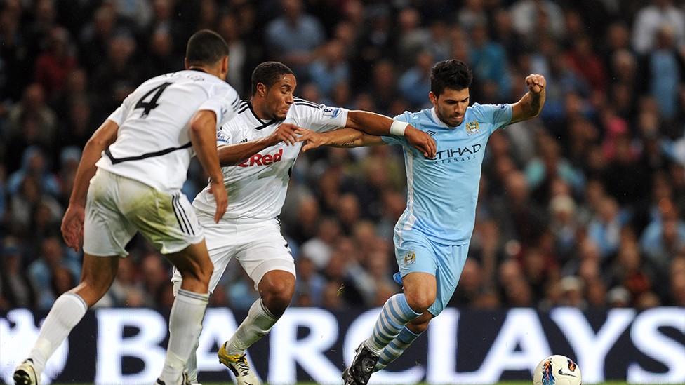 SERGIO AGUERO V SWANSEA: The Argentine scored two, including a 30-yard screamer