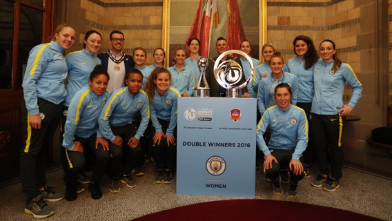 SQUAD GOALS: The team pose with their silverware