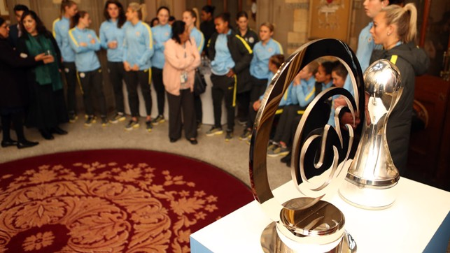STARS OF THE SHOW: The FA WSL and Continental Tyres Cup trophies