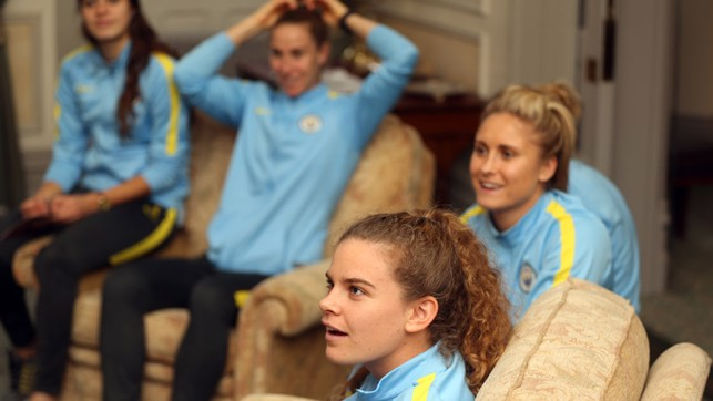 ENGROSSED: Daphne Corboz and the team listen intently