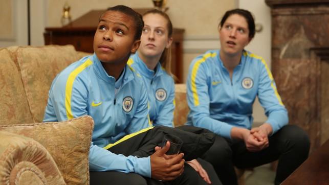 LOOKING UP: Nikita Parris fully focused, as always