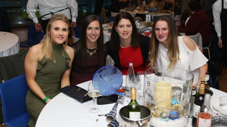 TOGETHER: Izzy Christiansen, Jane Ross, Marie Hourihan and Abbie McManus pose for a snap