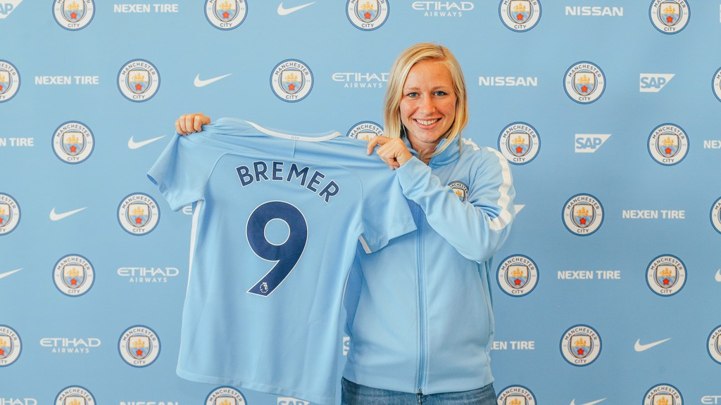 NUMBER NINE: Often employed at full-back, Bremer is keen to secure her place as a striker
