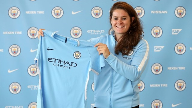 TRUE BLUE: The defender expressed her delight that she'll be a City player for two more years.