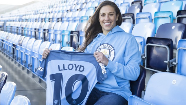 NEW CHALLENGE: Carli Lloyd joined City in February, ahead of the FA WSL Spring Series