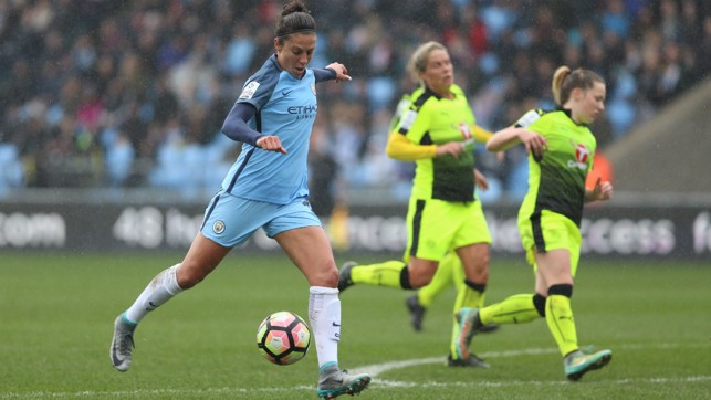 DEBUT: The midfielder made her first appearance for the Blues against Reading