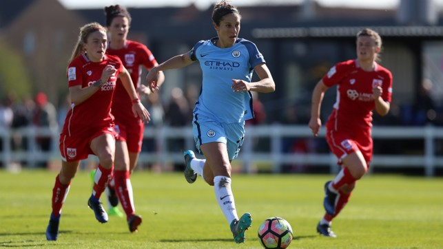 FA CUP ACTION: On the move at Bristol