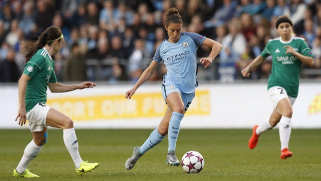 HISTORY MAKER: Lloyd helped City to the semi-finals of the Champions League